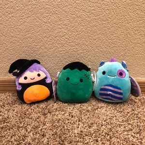 LOT of 3 Halloween Squishmallow Squad 5""